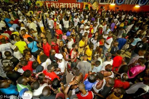 Haitian crowd